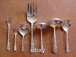 Repousse 30pc Set International Radiant Rose Sterling Silverware Service Pour 5