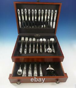 Royal Danish Par International Sterling Silver Flatware Set 12 Service 86 Pièces