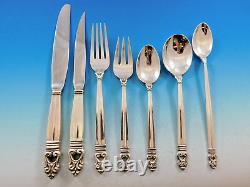 Royal Danish Par International Sterling Silver Flatware Set For 8 Service 56 Pcs
