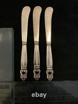 Royal Danish Par International Sterling Silver Flatware Set With Case 48