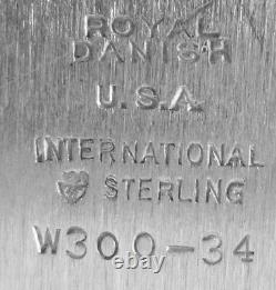 Royal Danish Par International Sterling Silver Grand Serveur Ou Plateau De Thé, W300-34