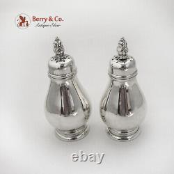 Royal Danish Salt Pepper Shakers Set International Sterling Silver 1939