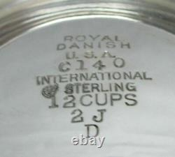 Royal Danois International Argent Sterling 8 1/2 Cafetière