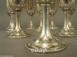 Serling International Silver Sewer Saybrook P664 Goblet Set De 8 -no Monos Minty