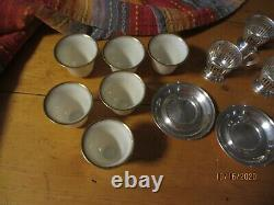 Serling Silver Coupes Internationales D'oeufs/saucerslenox Chine Tasses D'oeufs Set/6
