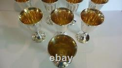 Set/8 International Sterling Silver Goblets #661, 1100 Grammes