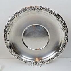 Silver Sterling International Hollowware H279 Wild Rose 10 Assiette De Sandwich 244g