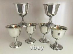 Six (6) Gobelets De Sherbet En Argent Sterling Par Lord Sterling International Saybrook