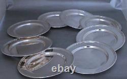 Sterling Silver Bread Plates Par International H575 Ensemble De Huit