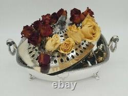 Sterling Silver Flower Centerpiece Par International