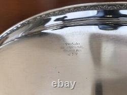Vintage International Silver Co. Prelude Bread Tray Sterling 1939 J 57