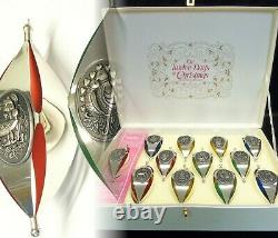 Vintage MCM 12 Jours De Noël Marquis International Sterling Silver Ornaments