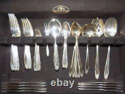 Vintage Prelude International Sterling Silver Flatware Set Pour 8 72 Pièces