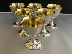 Vintage Seigneur Saybrook International Sterling Silver Gold Wash Goblet 4 3/4