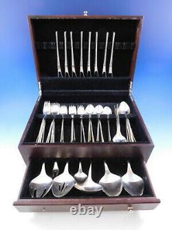 Vision By International Sterling Silver Flatware Set Service 47 Pièces Moderne
