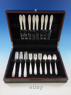 Wedgwood By International Sterling Silver Flatware Set 8 Service 32 Pcs Dîner